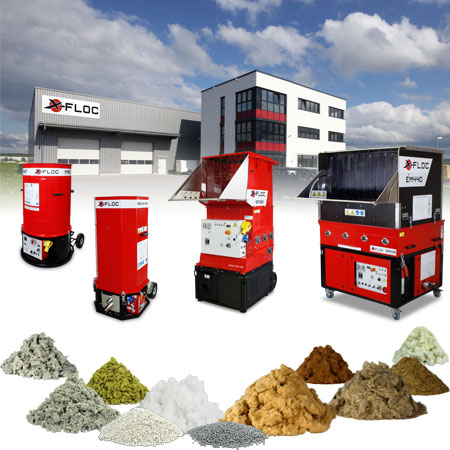 X-Floc insulation blowing machines and certified materials