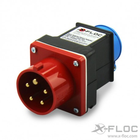 Netz-Adapter Verteiler 400V CEE-3x 230V Schuko (Würfel)