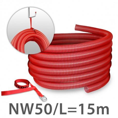 flexible injection hose NW63 (2½''), L 15m (blue)