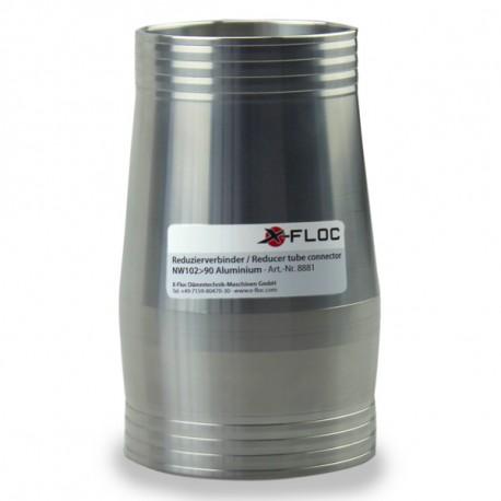 Reducer tube connector NW102-75 (4''-3'') Aluminium