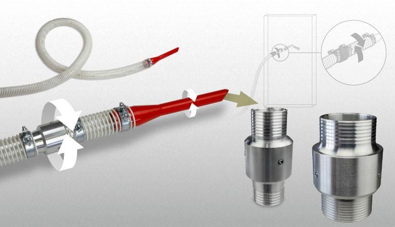 Schlauchdrehverbinder SDV50, SDV63 und SDV75