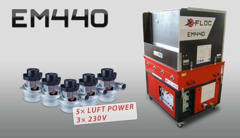 EM440-3×230V/10,0kW Hochleistungs-Einblasmaschine mit Lichtstrom